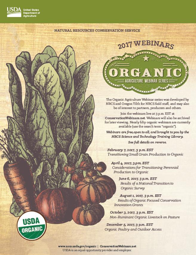Organic Agriculture Webinar Series @ ConservationWebinars.net