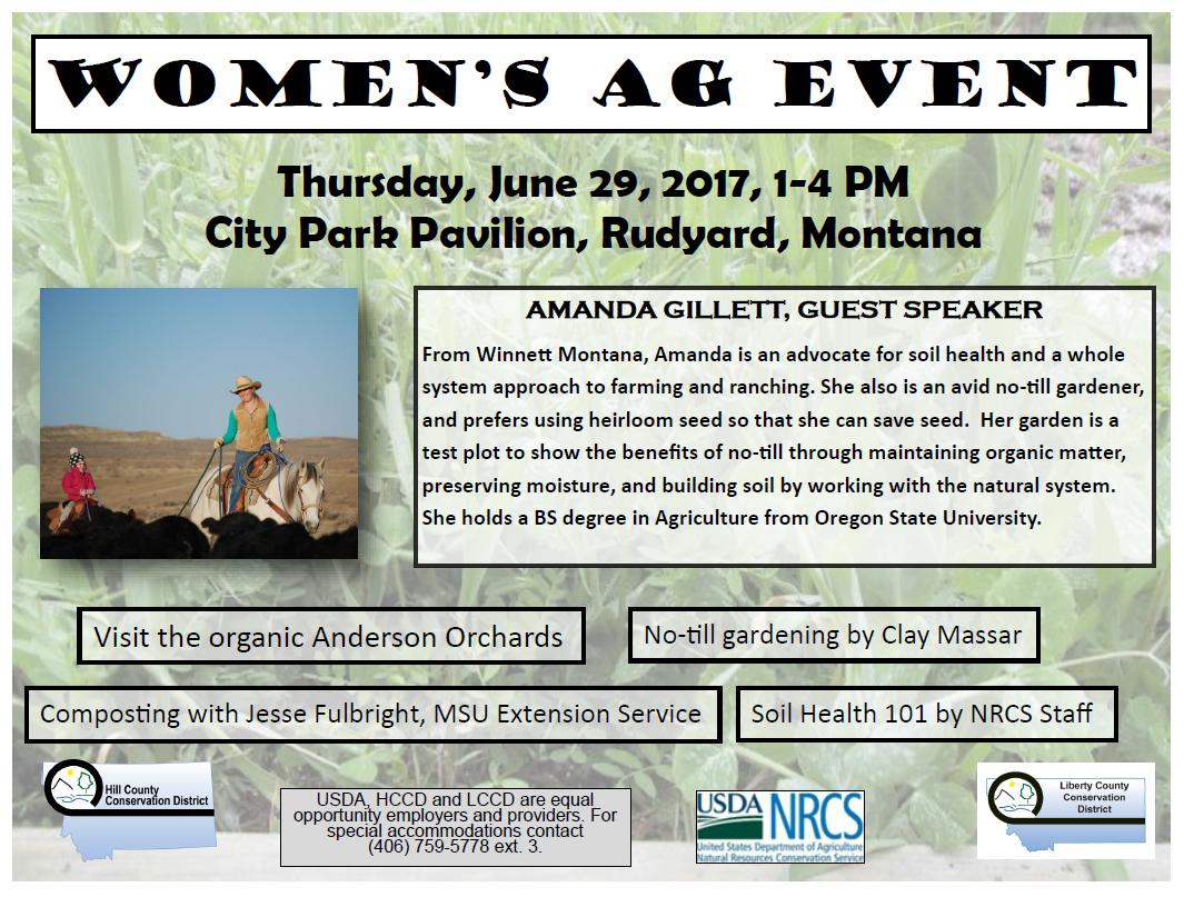 Women's Ag Event @ City Park Pavillion