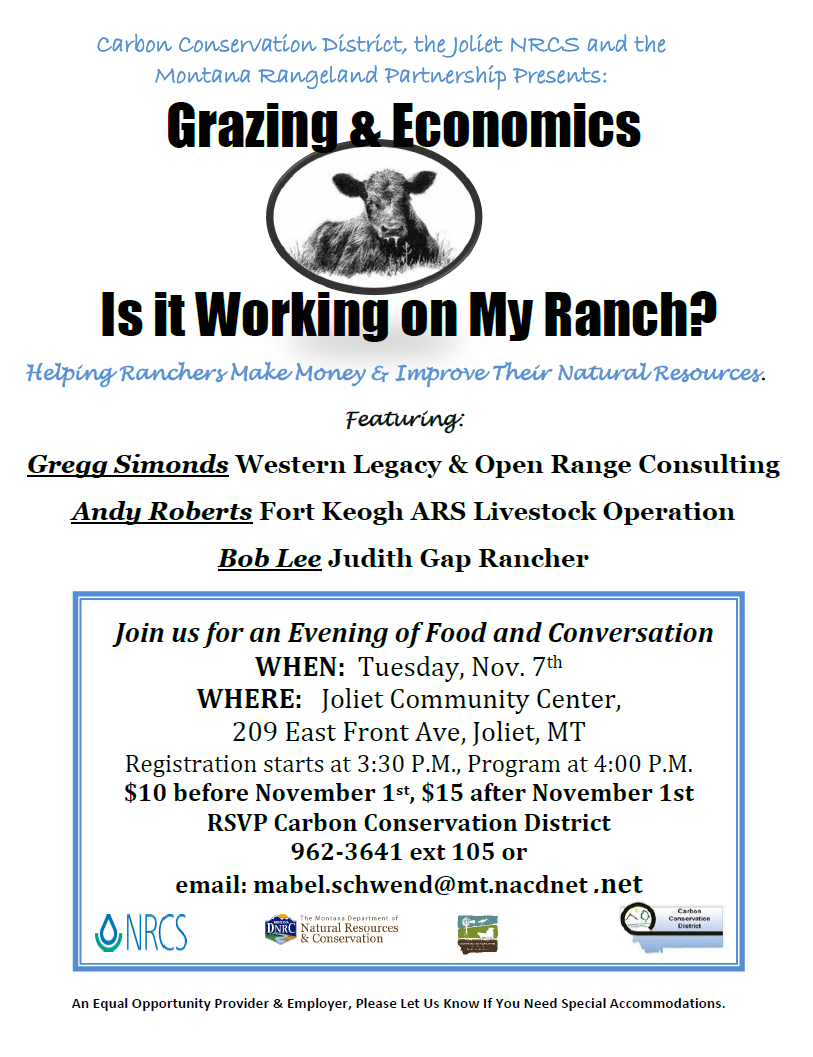 Grazing & Economics Seminar @ Joliet Community Center